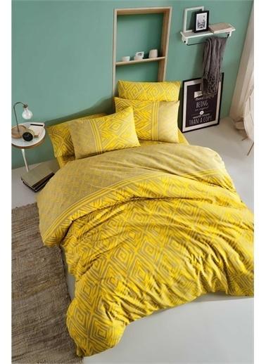 Fancy Tek Kişilik Nevresim Takımı - Motto Sarı Sarı
